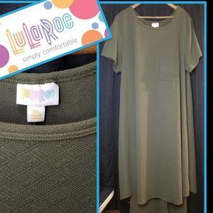 Lularoe Carly Dress in Olive Green 3XL